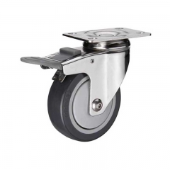 5'' PU stainless steel caster