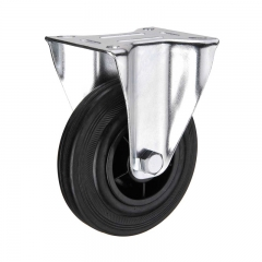 Fixed Caster Rubber Wheels
