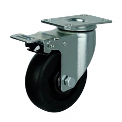 phenolic swivel caster wheel With double brakes