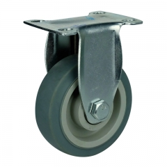 gray TPR rigid caster wheel