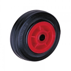 Plastic core rubber single wheel