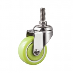 Light duty stainless threaded caster