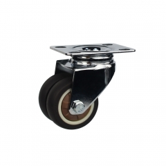 Light duty swivel brown TPR caster wheel