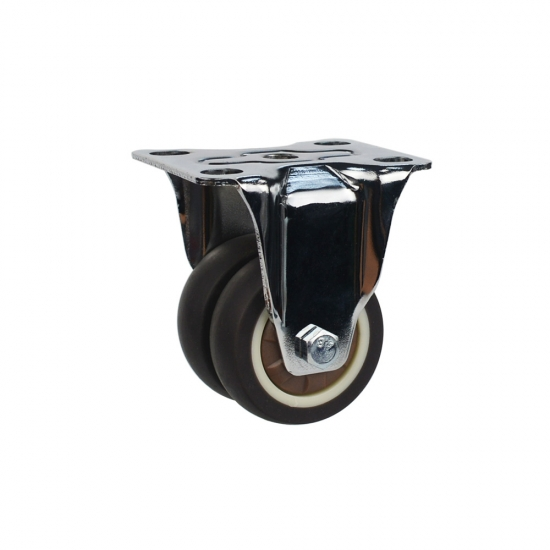 Light duty rigid brown TPR caster wheel with brake