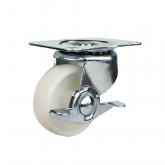 Low profile nylon swivel caster wheel