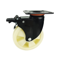Medium-heavy duty pp swivel caster with brake