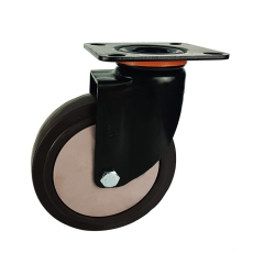 Medium-heavy duty tpr swivel caster