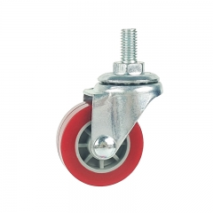 Light duty threaded stem swivel pu-caster-Rad