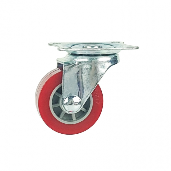 Light duty swivel pu caster wheel