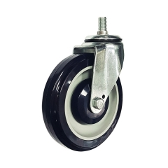pu threaded stem swivel caster Rad