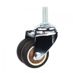 Light duty swivel brown TPR caster Rad