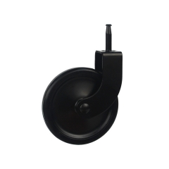 Black plastic stem swivel caster wheel