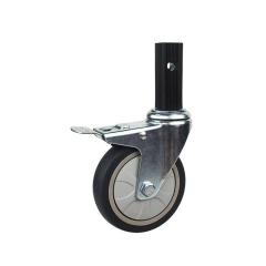 square stem swivel locking caster wheel