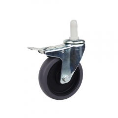 silent expanding stem swivel locking caster wheel