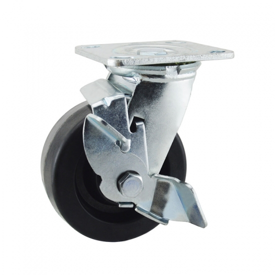 Heat resistant locking caster wheels