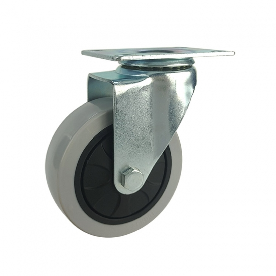 Medium duty pp fixed caster wheels